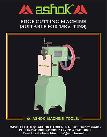 Edge Cutting Machine (Suitable for 15kg Tins)